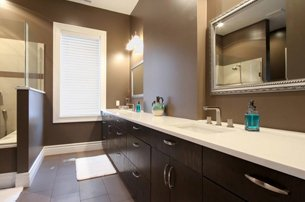 Gray Master Bathroom