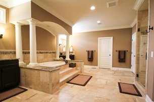 Master Bathroom With Columns