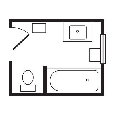 Full Bath Floorplan