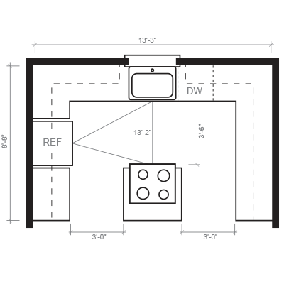 Island Kitchen Floorplan