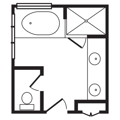 Posh Plus Bath Floorplan