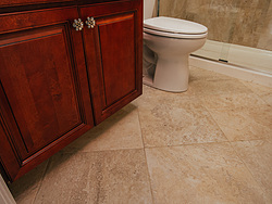 Warm Bathroom Flooring
