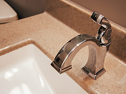 Neutral Bathroom Silver Faucet