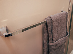Neutral Bathroom Design Towel Bar