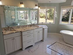 Chesterfield Marble Master Bath Double Vanity