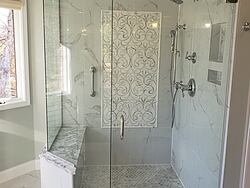 Chesterfield Marble Master Bath Shower