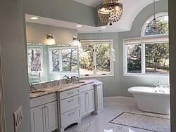 Chesterfield Marble Master Bath Overview