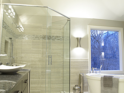 Natural Light Bathroom - Glass Shower