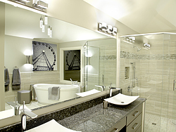 Natural Light Bathroom - Mirror