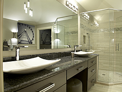 Natural Light Bathroom - Double Vanity