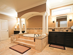 Master Bathroom With Columns - Bath Tub