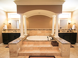 Master Bathroom With Columns - Bathtub