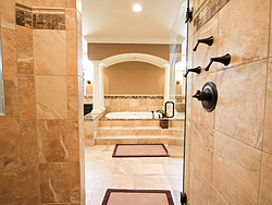 Master Bathroom With Columns - Shower Tile