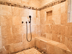 Master Bathroom With Columns - Shower Design