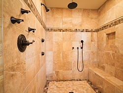 Master Bathroom With Columns - Shower
