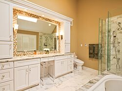 White Master Bathroom - Mirror