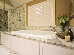 White Master Bathroom - Bathtub