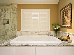 White Master Bathroom - Bath Tub