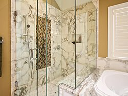 White Master Bathroom - Shower