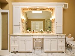 White Master Bathroom - Sinks
