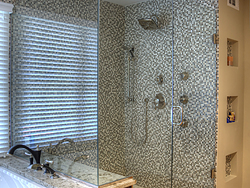 Large Master Bathroom - Glass Shower