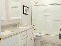 Bright Bathroom With Double Vanity