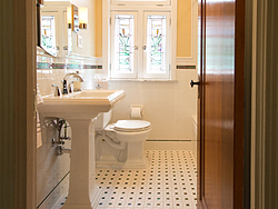 Bathroom With Pedestal Sink - Doorway