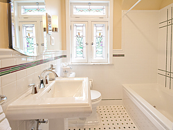 Bathroom With Pedestal Sink - Windows
