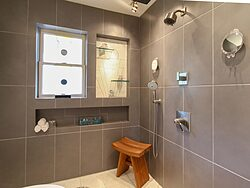 Universal Design Gray Bathroom - Shower Tile