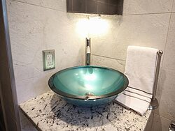 Universal Design Gray Bathroom - Sink Bowl