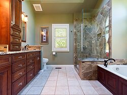 Stained Glass Master Bathroom