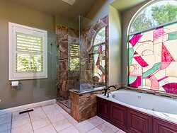 Stained Glass Master Bathroom Window