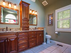 Stained Glass Master Bathroom - Double Bathroom Sinks