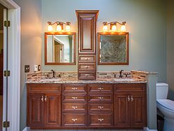 Stained Glass Master Bathroom - Bathroom Sinks
