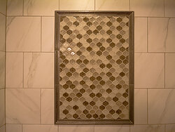 Small Bathroom With Decorative Tile - Detail Tile