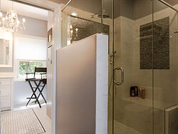 Modern Divided Bathroom - Corner Shower