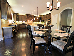Open Kitchen with Island Seating - Kitchen Floors