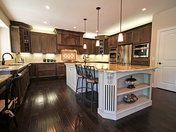 Open Kitchen with Island Seating - Spacious Design