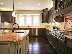 Open Kitchen with Island Seating - Cabinet Designer