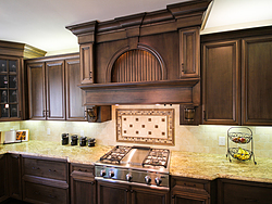 Open Kitchen with Island Seating - Cabinet Design