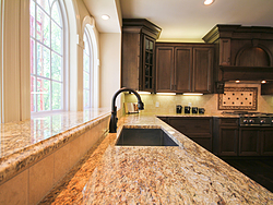 Open Kitchen with Island Seating - Kitchen Faucet