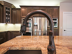 Open Kitchen with Island Seating - Island Faucet