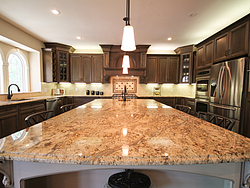 Open Kitchen with Island Seating - Island Countertop