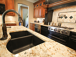 Traditional Two-Tone Kitchen - Island Faucet