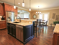 Traditional Two-Tone Kitchen - Island Details