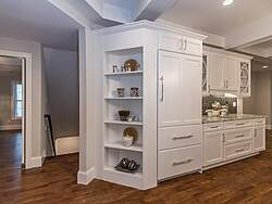 White Traditional Kitchen - Shelving