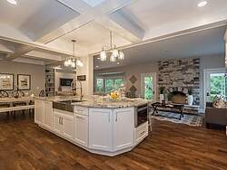 White Traditional Kitchen - Granite Countertop