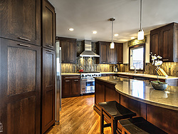 Contemporary Transitional Kitchen - Shaker Cabinets