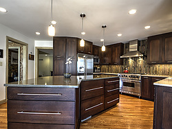 Contemporary Transitional Kitchen - Kitchen Island