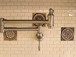 Midwest Kitchen With Unique Accents - Pot Filler
